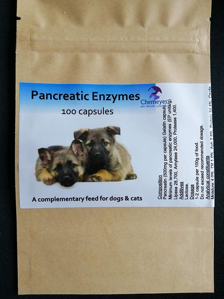 Chemeyes Pancreatic Enzyme for Dogs and Cats 500 Capsules