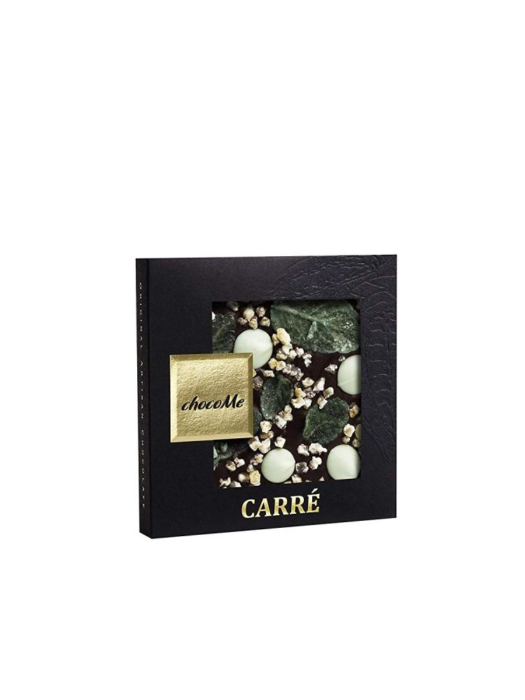 ChocoMe Carre Gourmet Dark Chocolate with Crystallized Mint 50 g