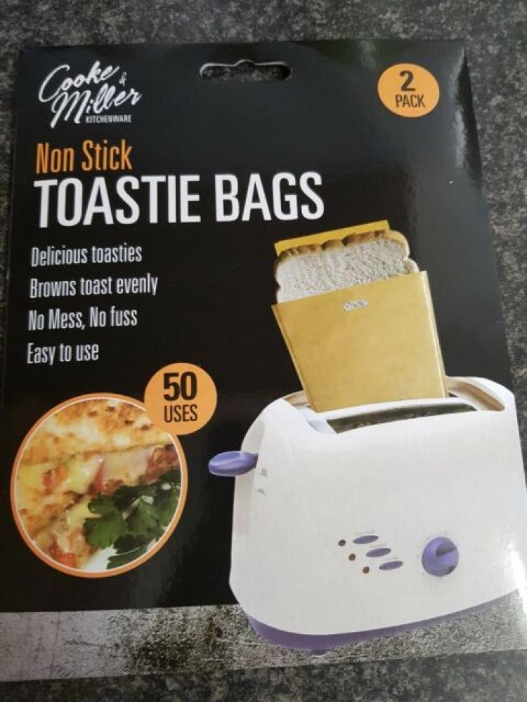Cooke and Miller Non Stick Toastie Bags 2 Pack