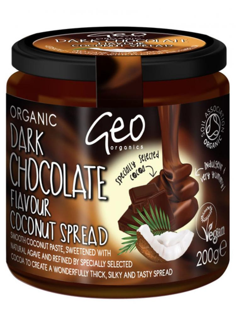 Geo Organics Dark Chocolate Flavour Coconut Spread 200g