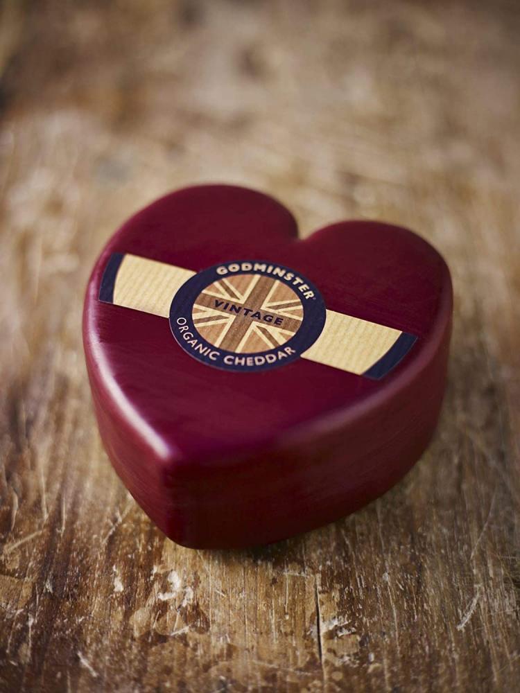 Godminster Heart Shaped Vintage Organic Cheddar 400g