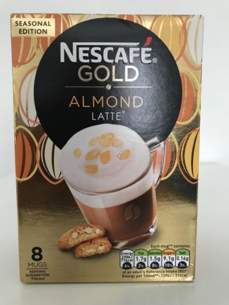 Nescafe Gold Almond Latte 8Mugs