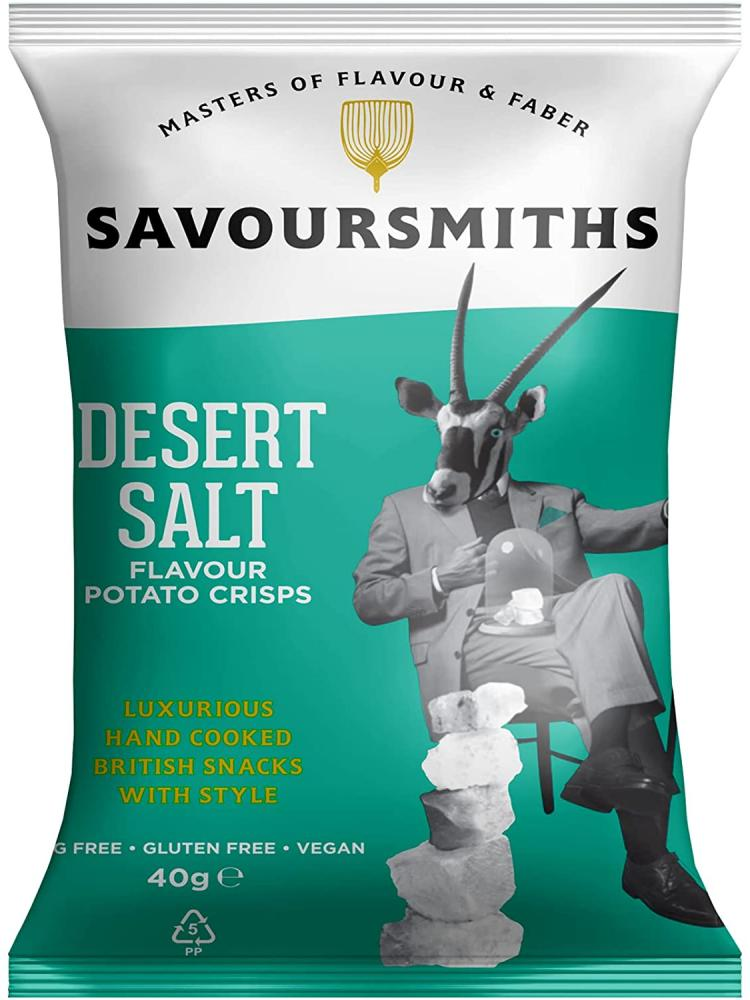 Savour Smiths Desert Salt Luxury English Potato Crisps 150g