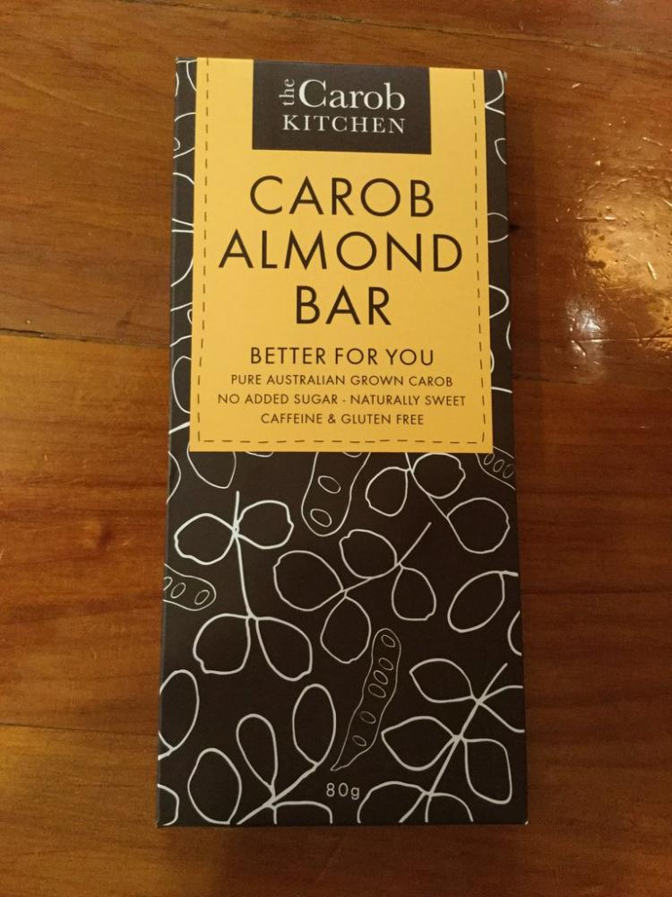 The Carob Kitchen Carob Almond Bar 80 g