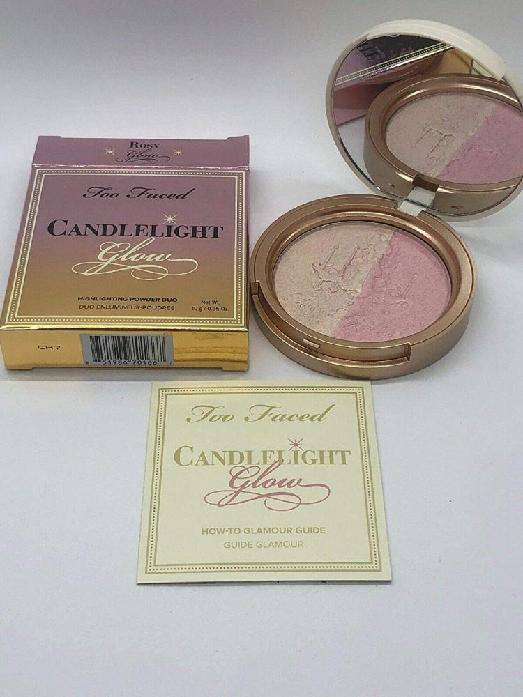 Too Faced Candlelight Glow Highlighting Powder Duo Rosy Glow 10g