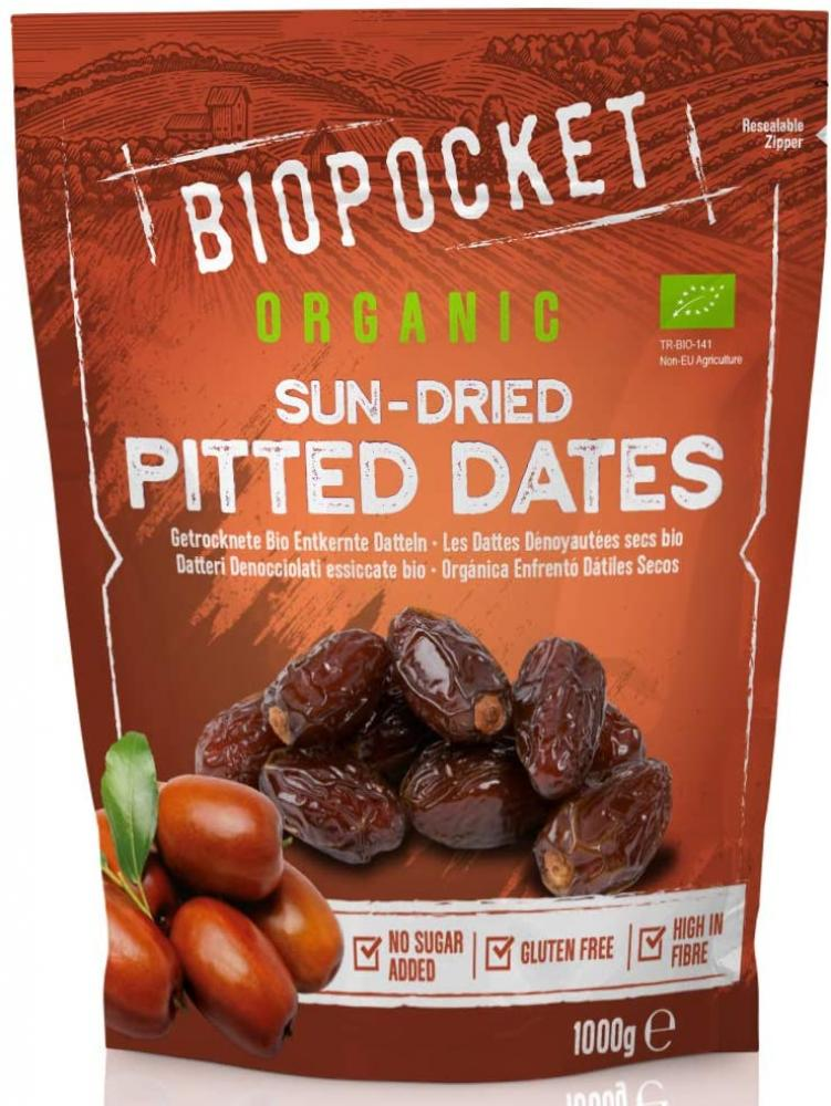 SALE  Biopocket Organic Dried Pitted Dates 1kg