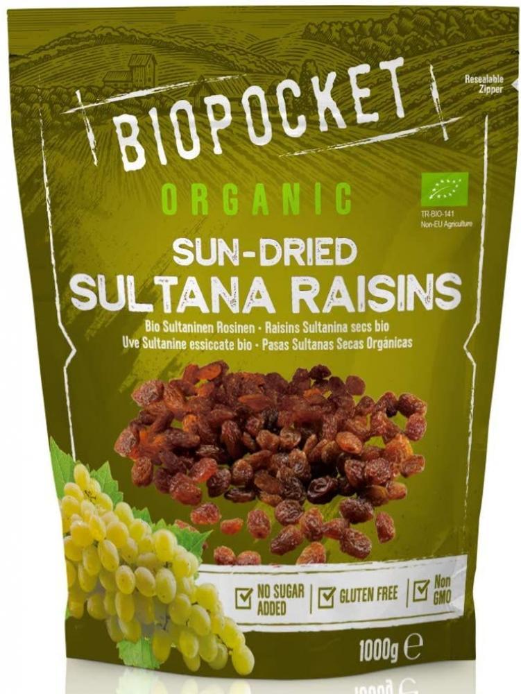 Biopocket Organic Sultana Raisins 1000 g