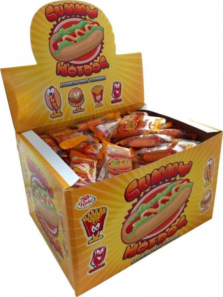 CASE PRICE  Rose Gummy Hotdogs 8g x 150
