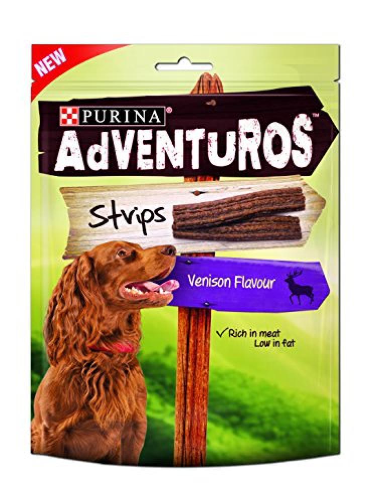 Purina Adventuros Strips Dog Treats Venison Flavour 90 g