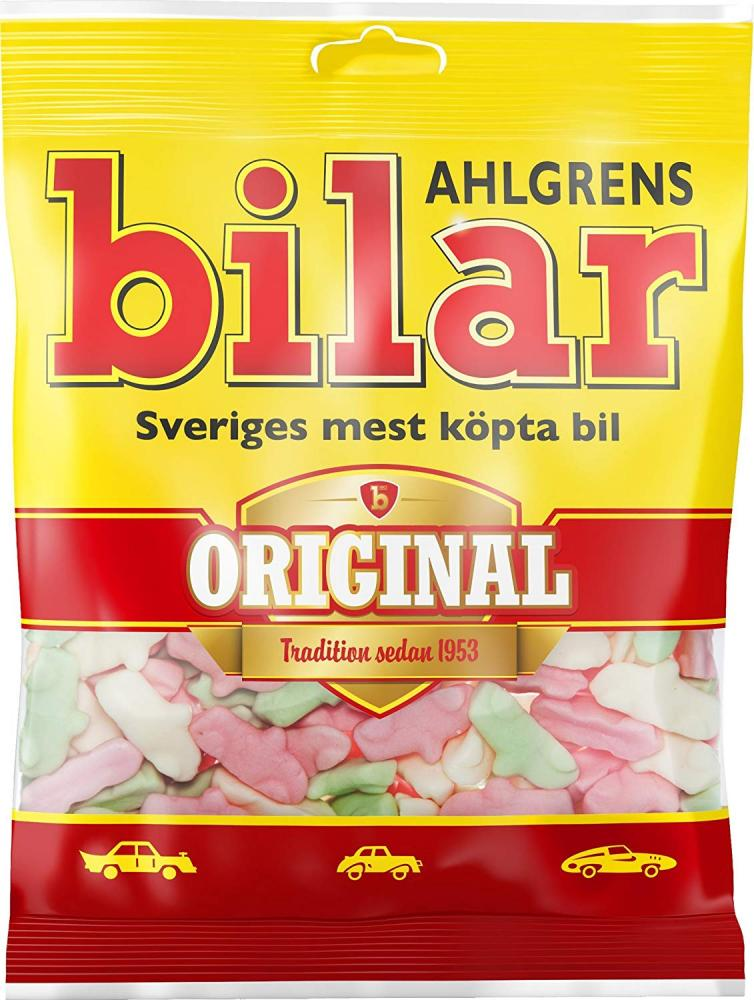 Ahlgrens Bilar Original Fruity Marshmallow Sweets 125g
