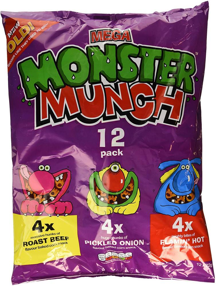 Monster Munch Variety Crisps 12x22g
