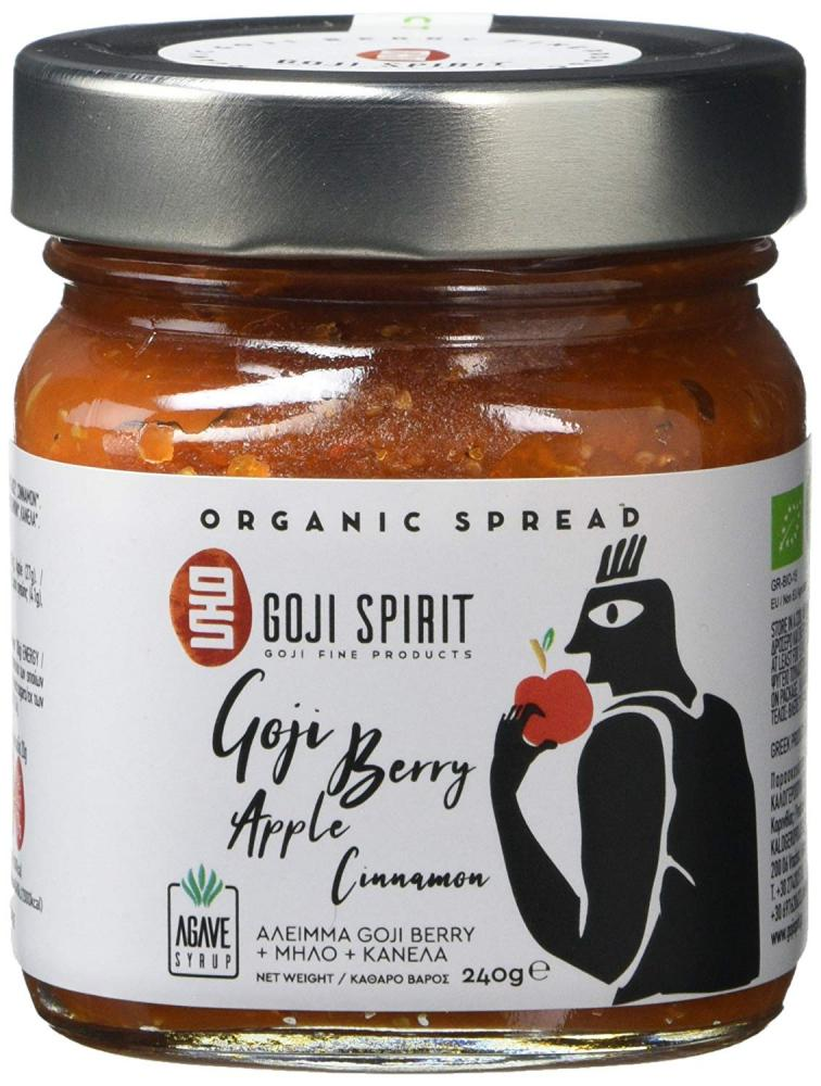 Goji Spirit Organic Spread with Goji Berry Apple Cinnamon and Agave 240g