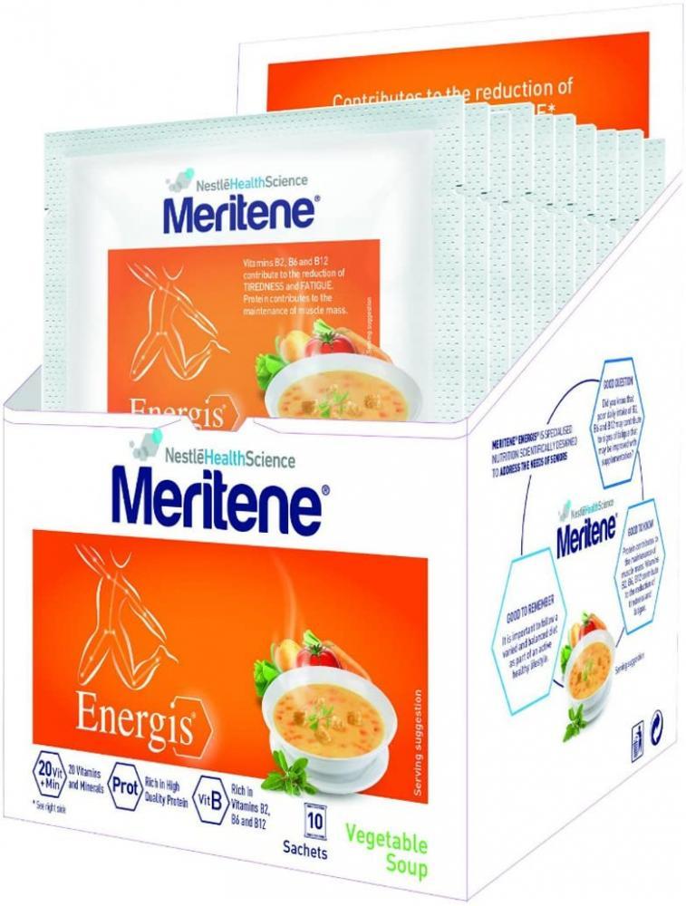 Meritene Energis Vegetable Soup Sachets 10 x 50g Damaged Box