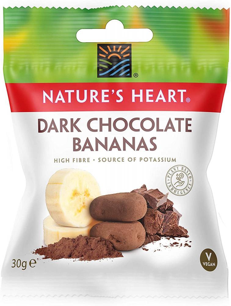 Natures Heart Dark Chocolate Bananas 30g