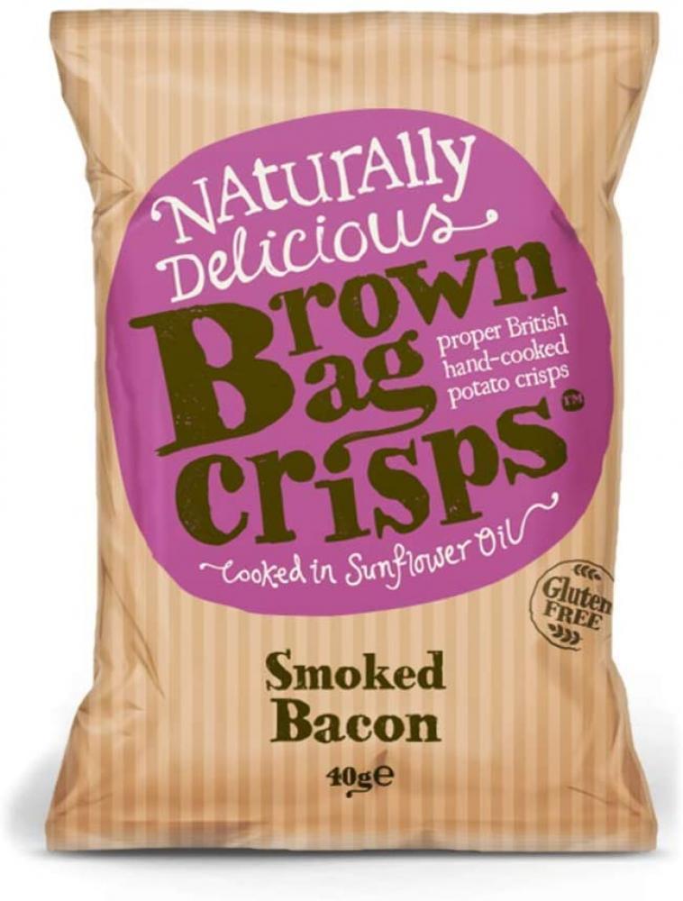 Brown Bag Crisps Smoked Bacon 40g