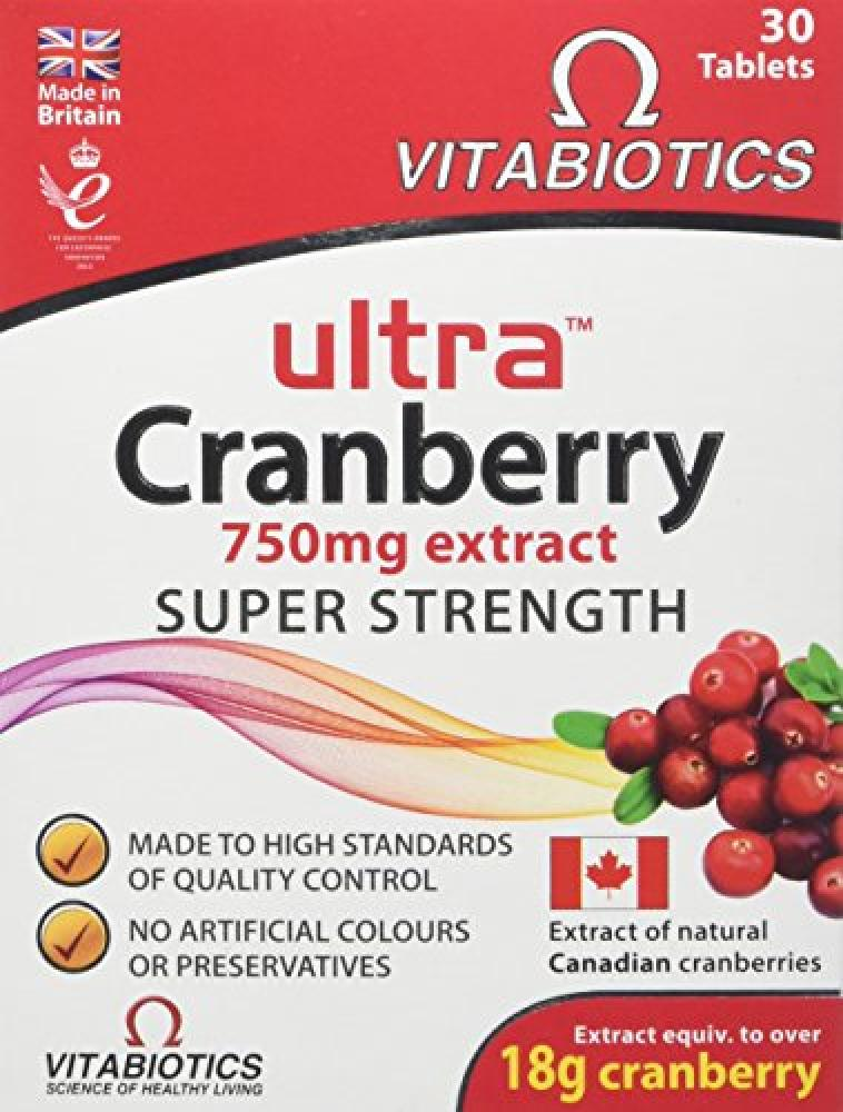 Vitabiotics Ultra Cranberry 30 Tablets Damaged Box