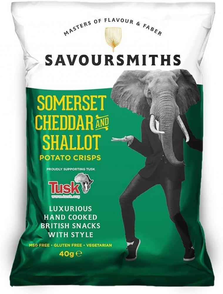 Savour Smiths Somerset Cheddar and Shallot Luxury English Potato Crisps 150g