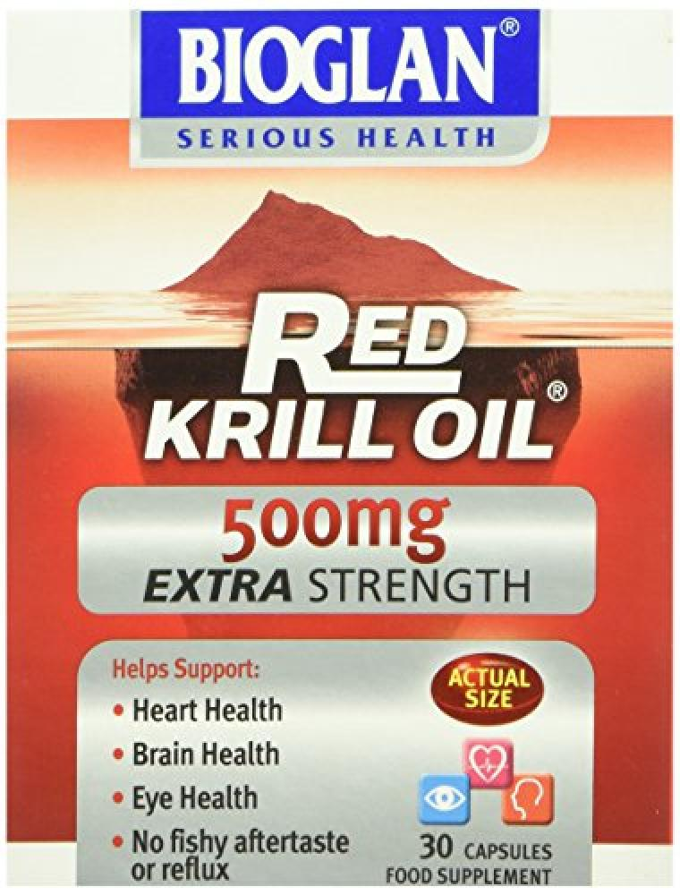 Bioglan 500mg Red Krill Oil Extra Strength Capsules 30 Capsules Damaged Box