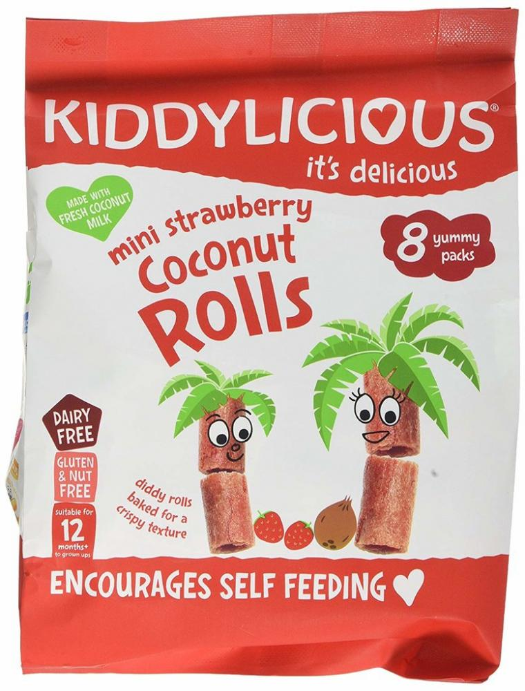 Kiddylicious Mini Strawberry Coconut Rolls 8x6.8g