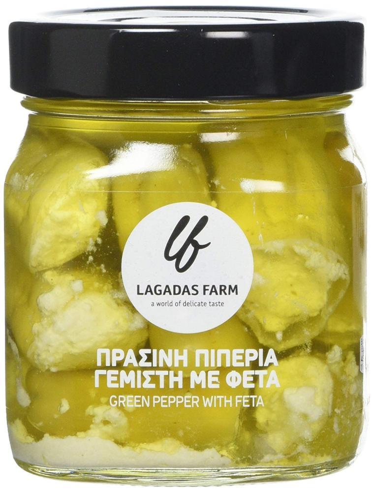 Lagadas Farm Greek Green Pepper with Feta Cheese 314g