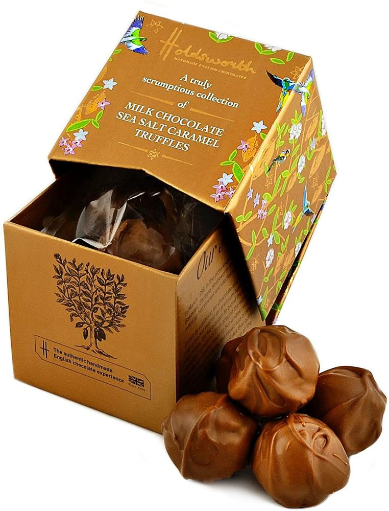 Holdsworth Chocolates A Collection Of Sensational Sea Salt Caramel Truffles Enrobed In Decadent Milk Chocolate 55g