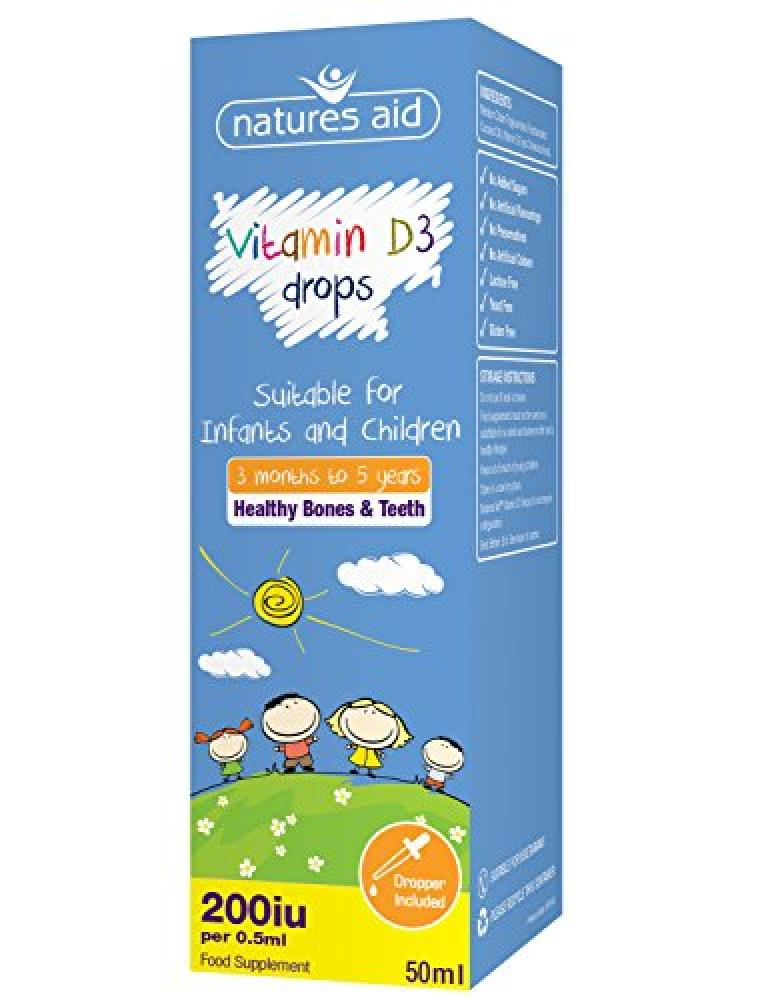 Natures Aid Vitamin D3 Drops Suitable for Newborn to 5 Years