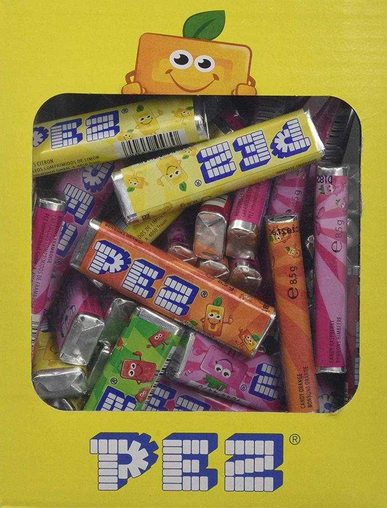 Pez Fruit Flavour Sugar ConfectioneryTablets Lucky Dip 8.5g