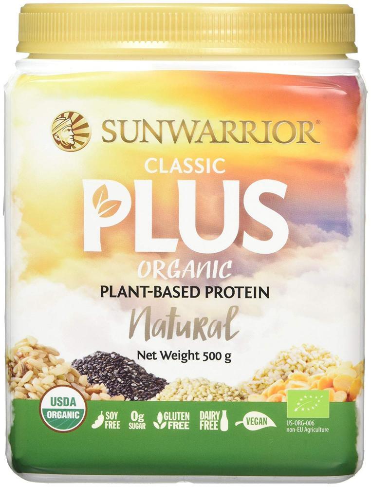 Sunwarrior Classic Plus Organic Plant Based Vegan Protein Powder Natural 500g