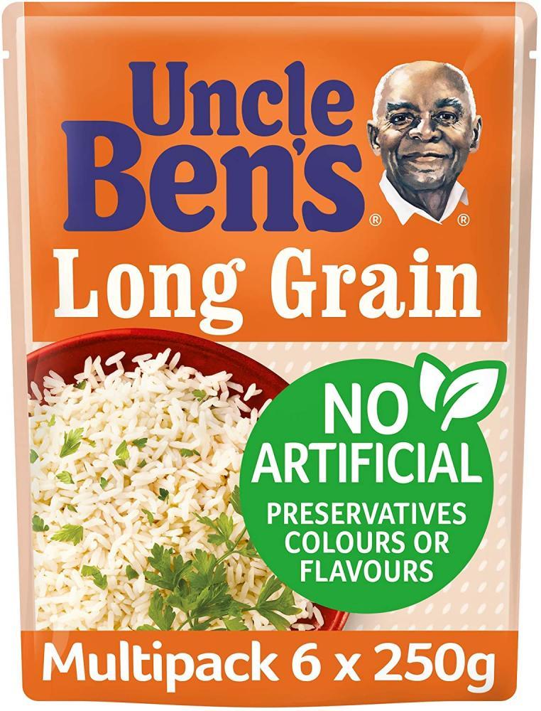 Uncle Bens Long Grain Microwave Rice 250g