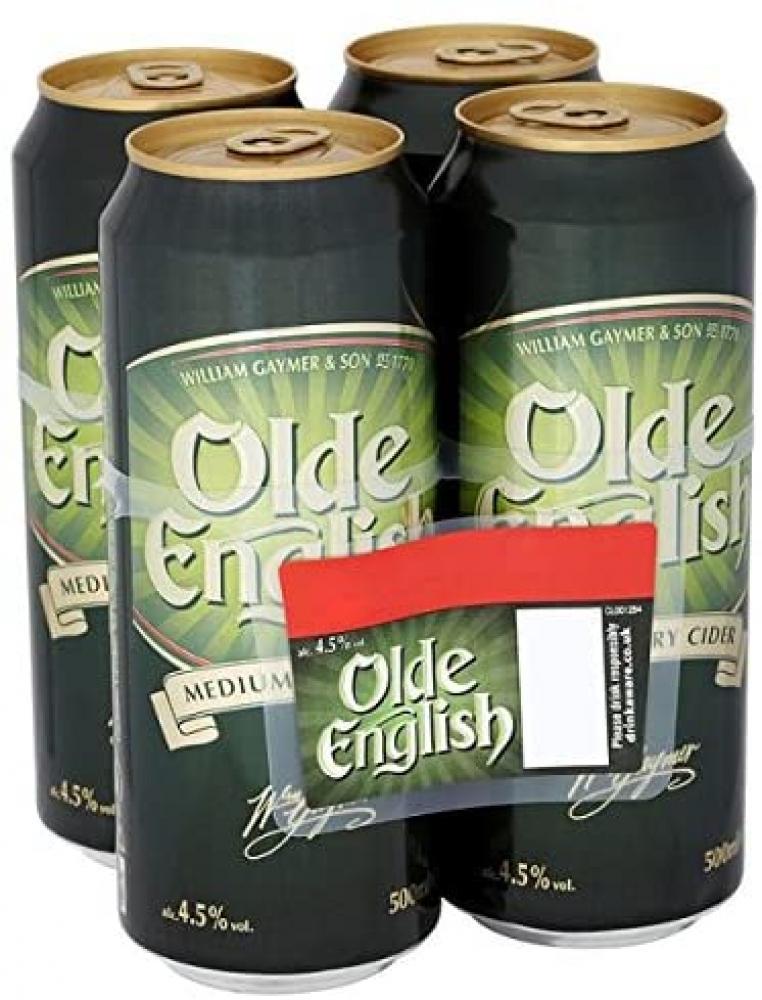 Ye Olde English Medium Dry Cider 4 x 500ml