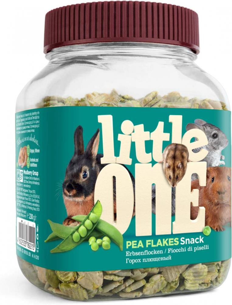SALE  Little One Snack Pea Flakes for Small Animals 230g
