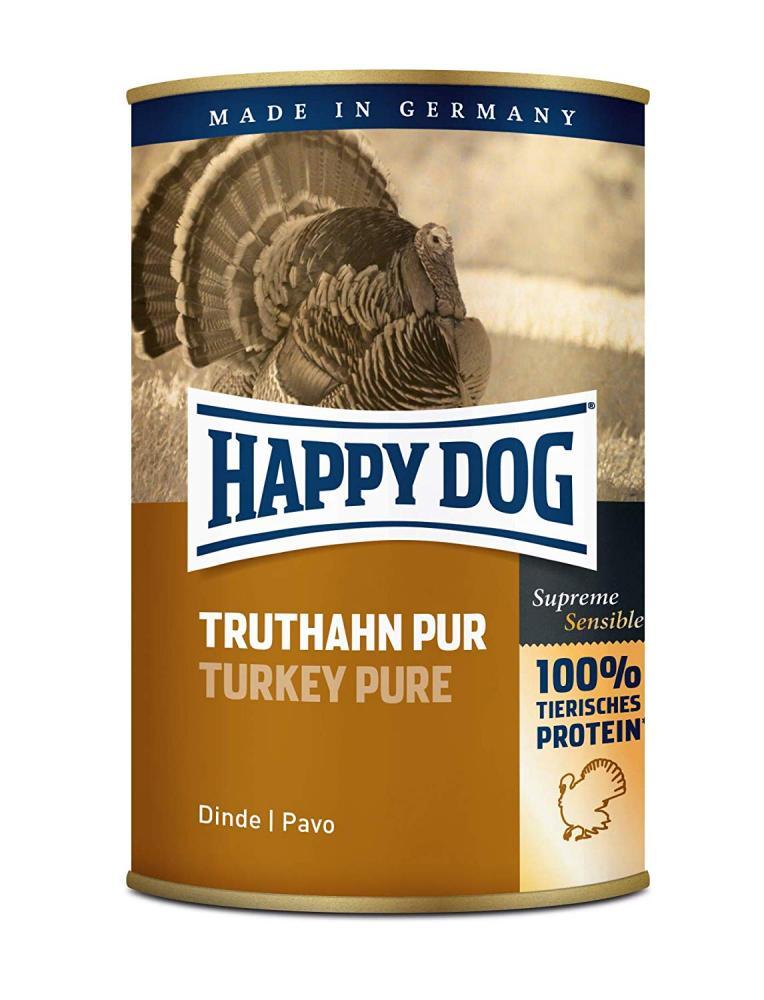 Happy Dog Wet Dog Food Pure Tinned Turkey 400 g