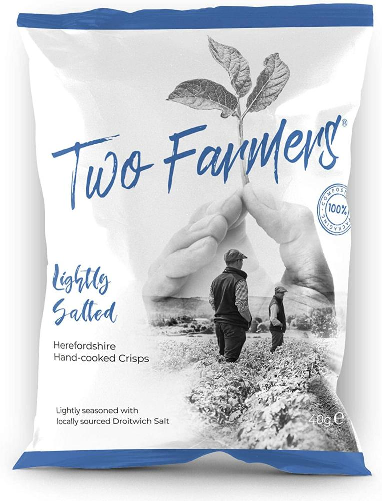 Two Farmers Hand Cooked Crisps Lightly Salted 40g