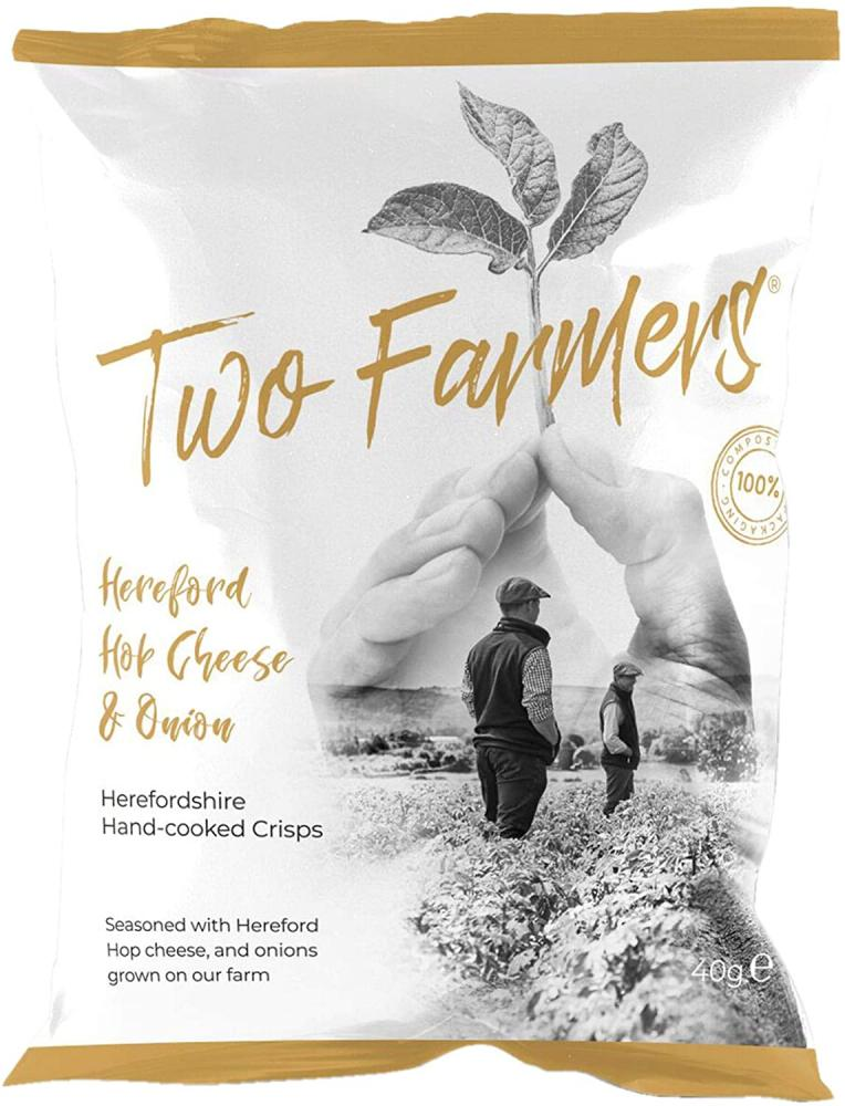 Two Farmers Hereford Hop Cheese and Onion Crisps 40 g