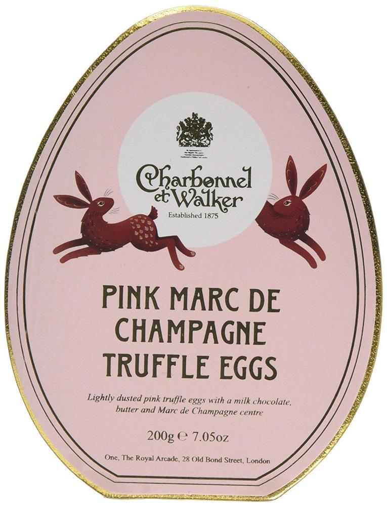 Charbonnel Et Walker Pink Marc de Champagne Truffle Egg Shaped Truffles 200g