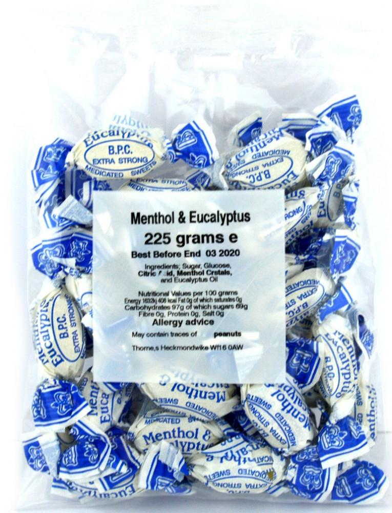 Thornes Menthol and Eucalyptus Sweets 225g