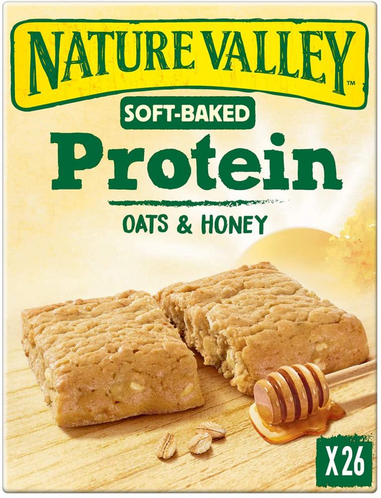 Nature Valley Protein Soft Bakes Oats and Honey Breakfast Biscuits Cereal Bar 38g