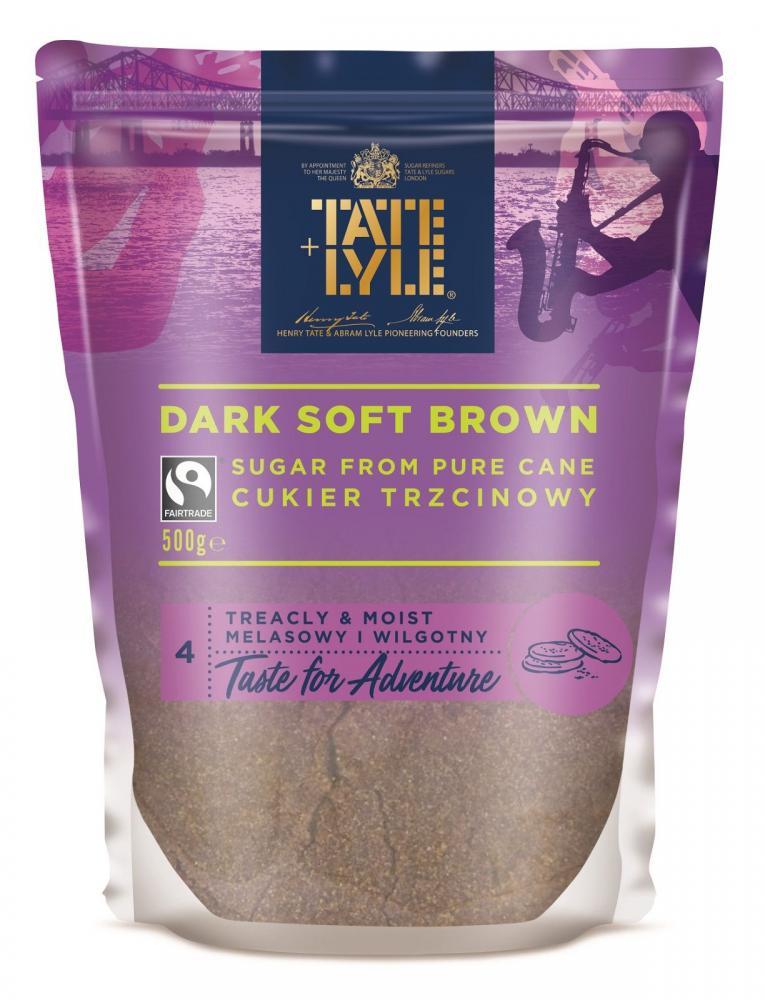 Tate and Lyle Dark Soft Brown Cane Sugar 500g