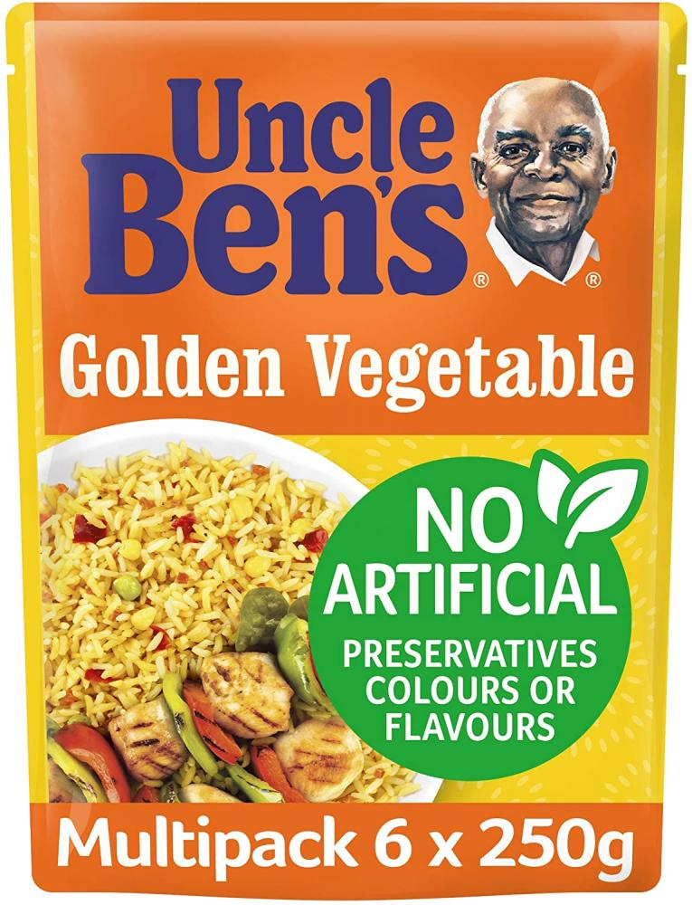Uncle Bens Golden Vegetable Microwave Rice 250g