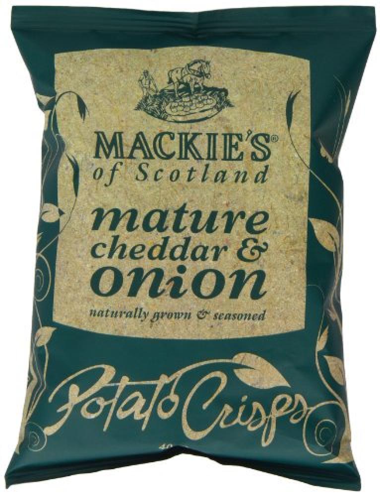 Mackies of Scotland Mature Cheddar and Onion Potato Crisps 40g