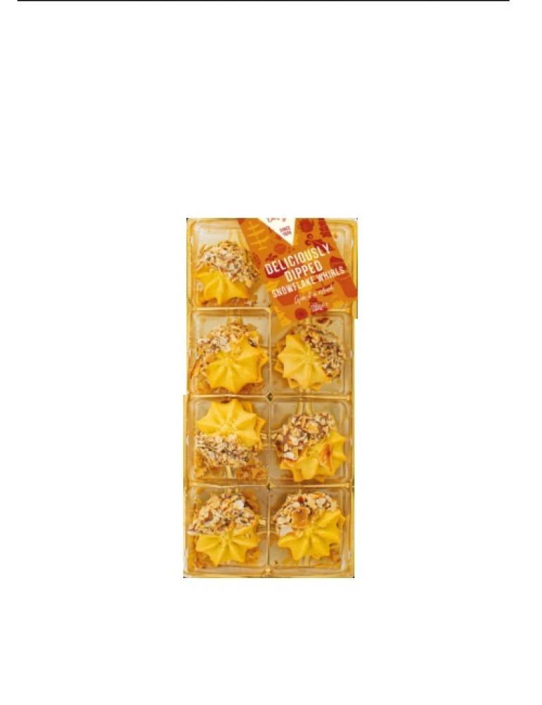 SALE  Cottage Delight Deliciously Dipped Snowflake Whirls 100g