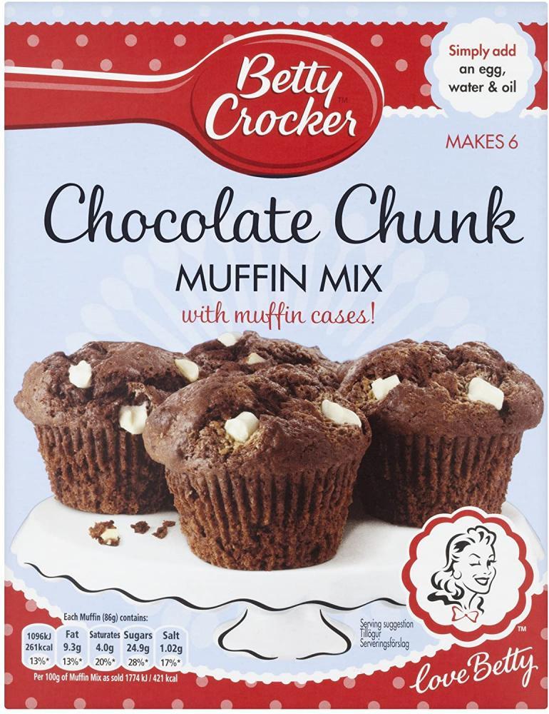 Betty Crocker Chocolate Chunk Muffin Cake Mix 335g