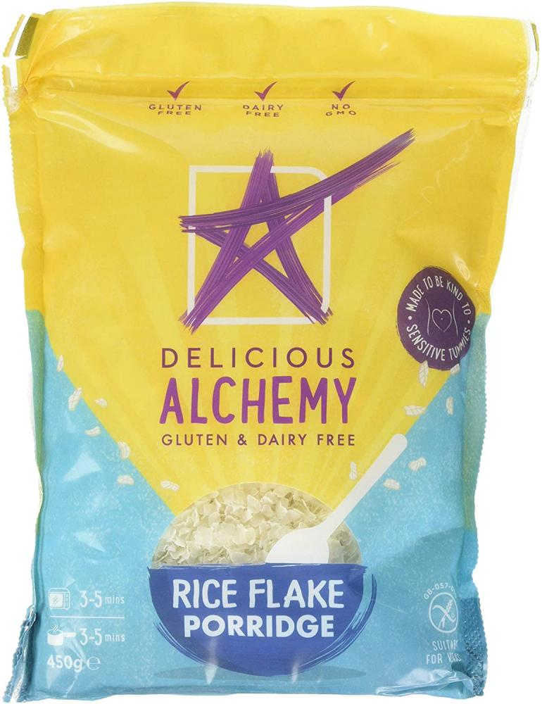 Delicious Alchemy Gluten And Dairy Free Rice Flake Porridge 450g