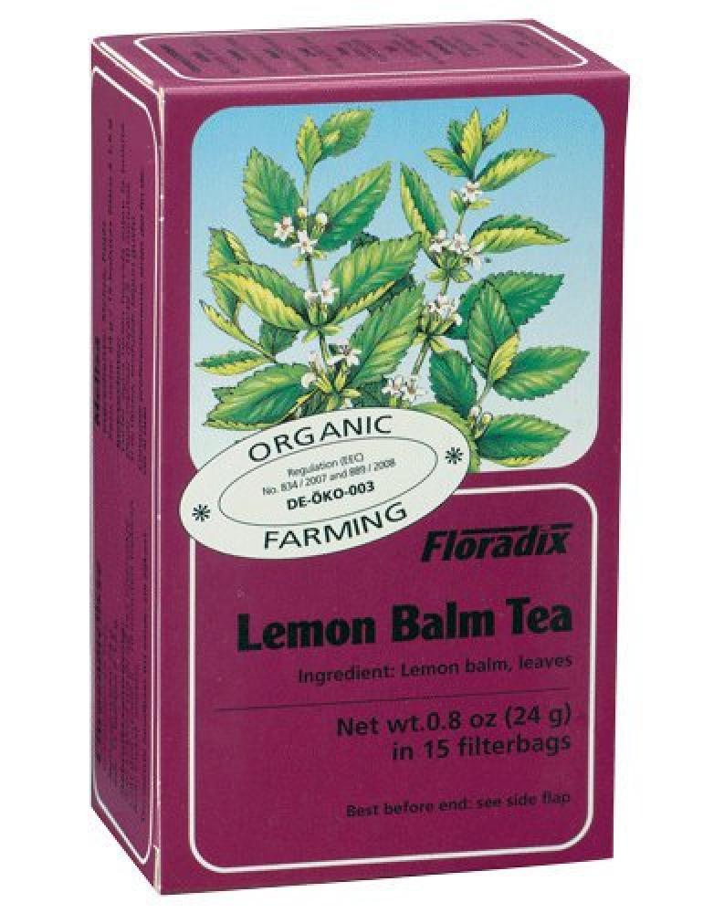 Floradix Lemon Balm Tea 15 Bags