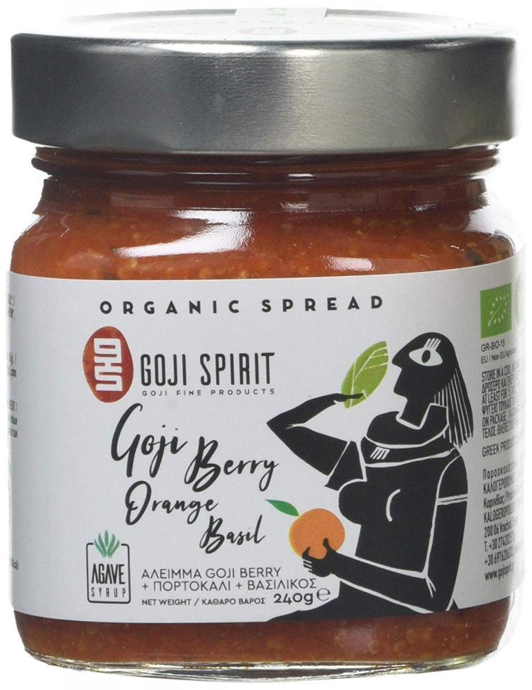 Goji Spirit Organic Spread with Goji Berry Orange Basil and Agave 240g