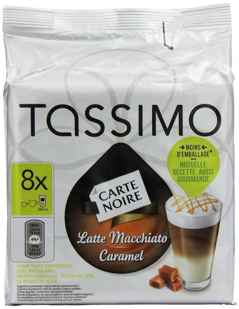 Tassimo Carte Noire Latte Macchiato Caramel 8 Servings