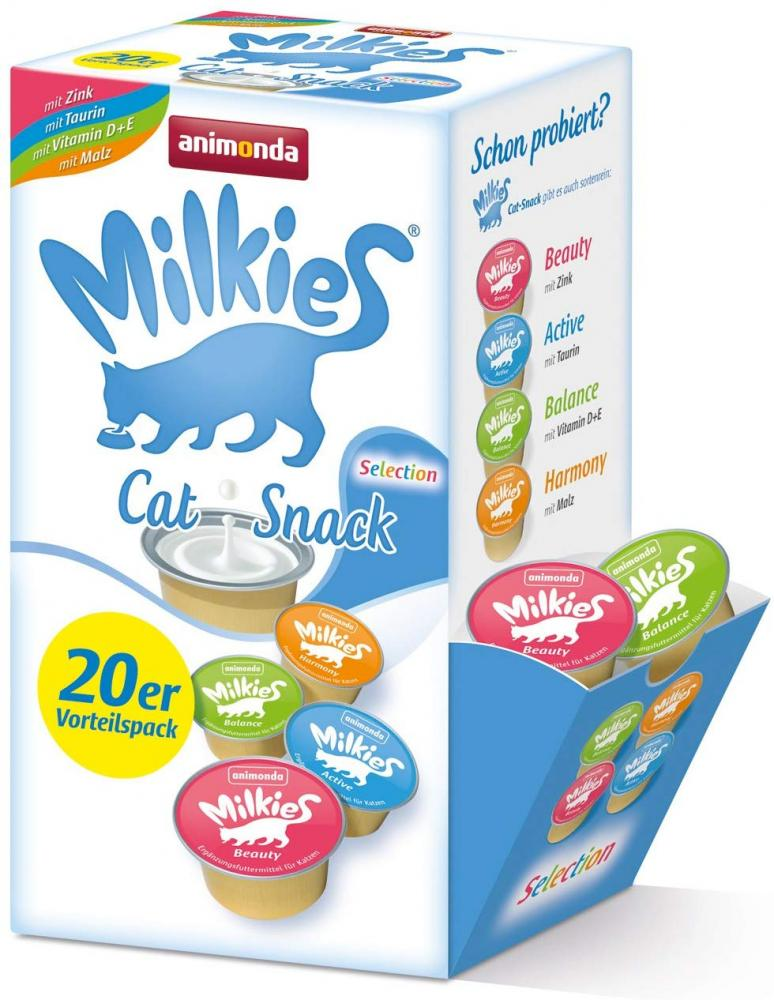 BLACK FRIDAY SPECIAL  Animonda Milkies Cat Snack Mixed Selection Pack 20x15g