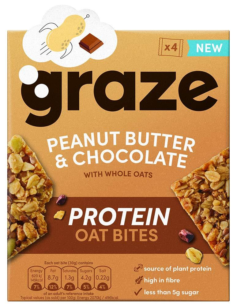 Graze Peanut Butter and Chocolate Protein Bites 4x30g