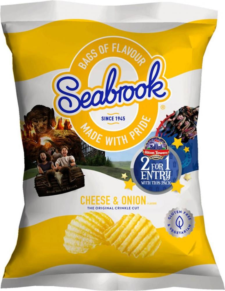 Seabrook Cheese and Onion Flavour Crisps 31.8g