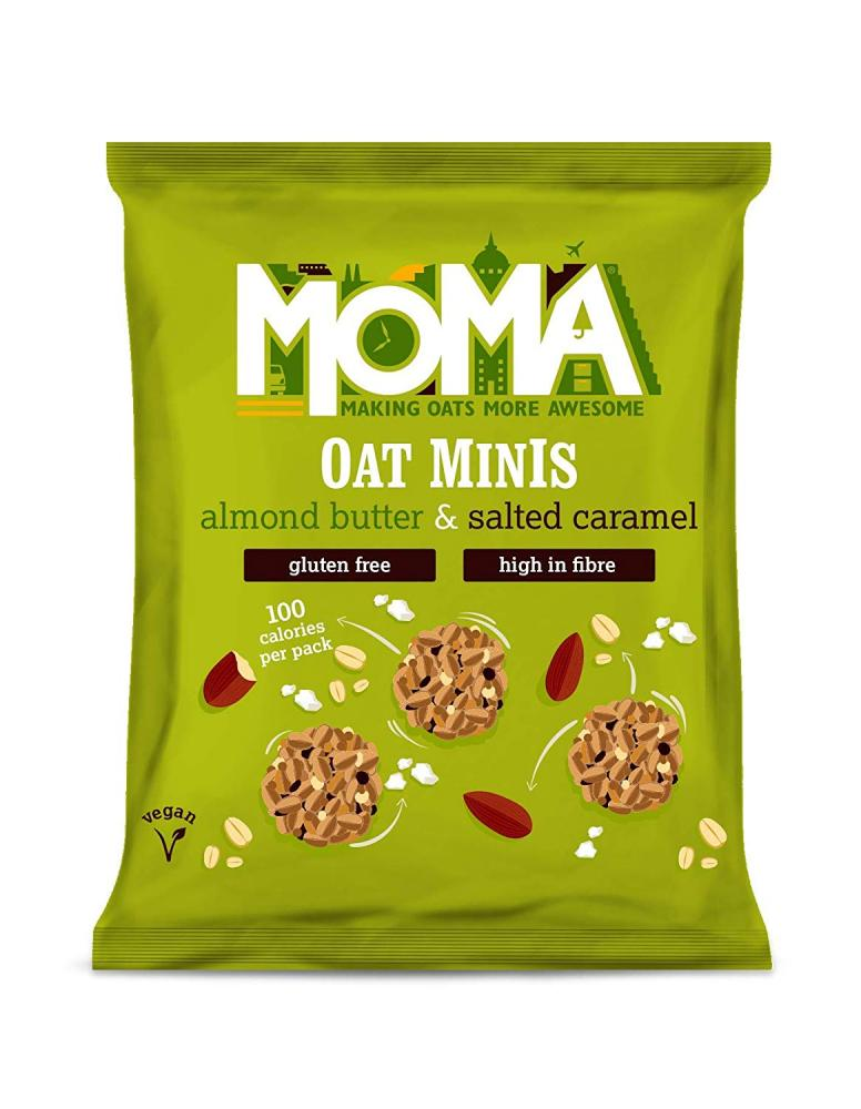 Moma Oat Minis Breakfast SnackAlmond Butter And Salted Caramel 28g